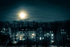 Nachtmond über Wiesengrund Fürth
