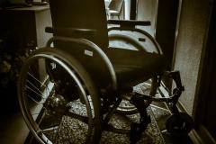 Mutters temporärer Rollstuhl