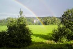 Regenbogen im Wiesengrund Fürth Scherbsgraben