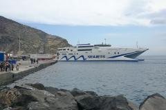 Santorin Hafen